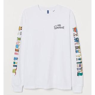 エイチアンドエム(H&M)のH&M シンプソン&ピカチュウ ロンT メンズM 古着 2枚セット(Tシャツ/カットソー(七分/長袖))