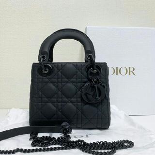 ディオール(Dior)の新品 Dior レディディオール ハンドバッグ マットブラック ミニ(ハンドバッグ)