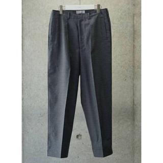 コモリ(COMOLI)の極美品 19SS YOKE wide pants gray plaid S(スラックス)