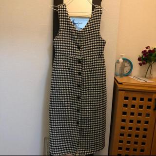 STYLENANDA - ロングウールチェックワンピース 韓国ファッション