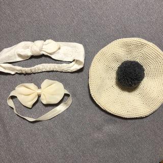エイチアンドエム(H&M)のハンドメイド ベレー帽 ヘアバンド(帽子)