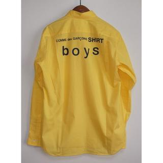 コムデギャルソン(COMME des GARCONS)のコムデギャルソン boy バックプリント シャツ yellow sizeM(シャツ)
