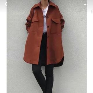 ドレスレイブ(DRESSLAVE)のDRESSLAVE ウール オーバーシャツ コート 美品 38 ブラウン(テーラードジャケット)