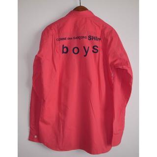 コムデギャルソン(COMME des GARCONS)のコムデギャルソン boy バックプリント シャツ pink sizeM(シャツ)
