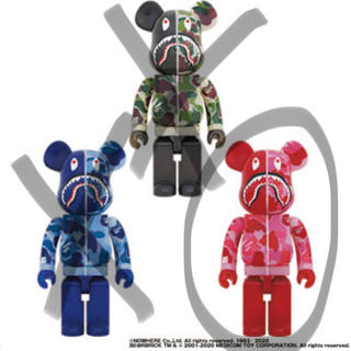 アベイシングエイプ(A BATHING APE)のBE@RBRICK CLEAR ABC CAMO SHARK 1000%(その他)