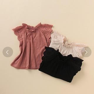 プティマイン(petit main)のプティマイン 袖フリルトップス タグ付き未使用(Tシャツ/カットソー)