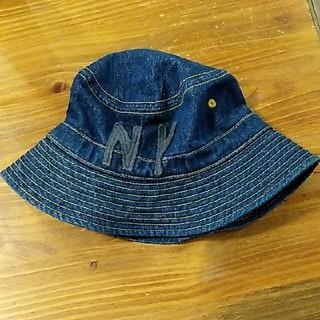 アンパサンド(ampersand)のampersand フェルトアップリケ付き 帽子 50cm(帽子)