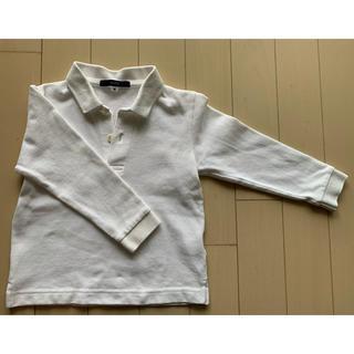 シップスキッズ(SHIPS KIDS)のSHIPS  シップス 長袖ポロシャツ キッズ 白シャツ 90㎝(Tシャツ/カットソー)
