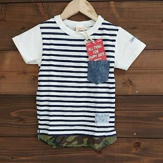 ニードルワークスーン(NEEDLE WORK SOON)のオフィシャルチーム ボーダー レイヤード風 Tシャツ(Tシャツ/カットソー)