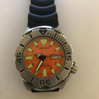 セイコー(SEIKO)の【希少】セイコーSEIKO スキューバダイバー200M デイト オレンジ文字盤(腕時計(アナログ))