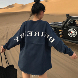 ゴゴシング(GOGOSING)の大人気♡韓国 オルチャン ロングTシャツ トップス ロゴプリント かわいい(Tシャツ(長袖/七分))