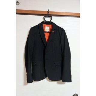 ディーゼル(DIESEL)の試着のみ ディーゼル 2つボタン ウール テーラードジャケット S 黒(テーラードジャケット)