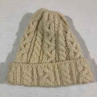 HIGHLAND2000 クリーム アイボリー ウール100%ニット帽