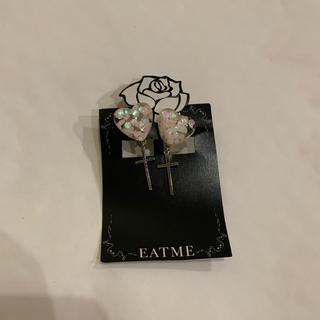 EATME - EAT ME ハートホロイヤリング ピンク