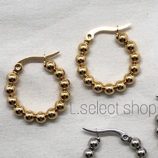 Ron Herman - 309.stainless lumpy hoop pierce【gold】