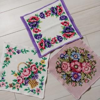 FEILER - フェイラー タオルハンカチ 花柄 3枚セット