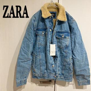 ZARA - ZARA 新品 裏ボア デニムジャケット Gジャン ザラ メンズ ダメージ