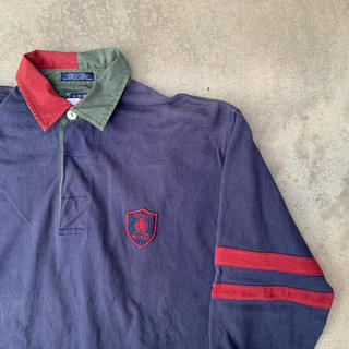 トミーヒルフィガー(TOMMY HILFIGER)の90s Tommy Hilfiger トミーヒルフィガー ラガーシャツ 古着(ポロシャツ)