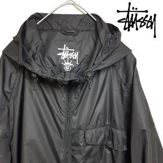 ステューシー(STUSSY)のSTUSSY ステューシー ナイロンジャケット 薄手 ブラック L(ナイロンジャケット)