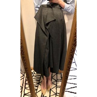 ENFOLD - ENFOLD スカート グレー