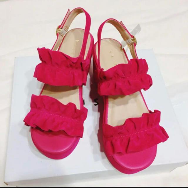 HONEYS(ハニーズ)のフリルサンダル レディースの靴/シューズ(サンダル)の商品写真