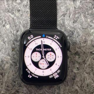 アップルウォッチ(Apple Watch)のApple Watch series 5 GPS 44mm ブラック(スマートフォン本体)