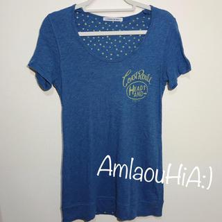 エーズラビット(Asrabbit)のASRABBIT BIG WAVE ブルー ロング 半袖 Tシャツ(Tシャツ(半袖/袖なし))