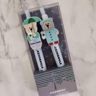 スターバックスコーヒー(Starbucks Coffee)の【新品】スターバックス 台湾限定 ベアリスタ ボールペン 雨モチーフ☔️(ペン/マーカー)