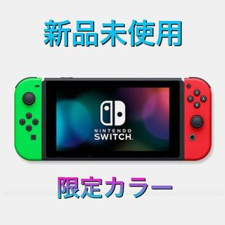 Nintendo Switch - ニンテンドースイッチ 本体 新品未使用 新型 限定カラー ネオングリーン レッド