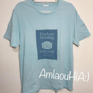 GU - GU ライトブルー プリントロゴ 半袖 Tシャツ