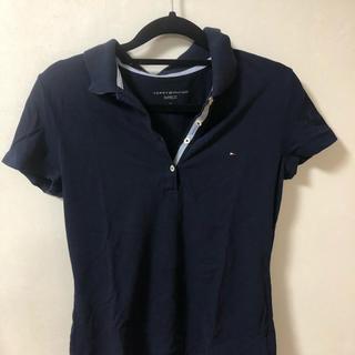 トミーヒルフィガー(TOMMY HILFIGER)のTOMMY HILFIGERのポロシャツ ネイビー/サイズS(レディース)(ポロシャツ)