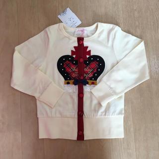 Shirley Temple - シャーリーテンプル☆王冠カーディガン☆110オフ白