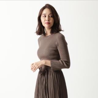 Mila Owen - 完売 ミラオーウェン  袖スリットオーガニックコットンリブニットトップス