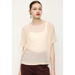 スライ(SLY)のSLY WRINKLE TULLE BASIC Tシャツ シースルートップス(Tシャツ(半袖/袖なし))