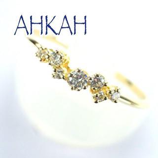 AHKAH - アーカー AHKAH K18YG ダイヤ BB リング パヴェ