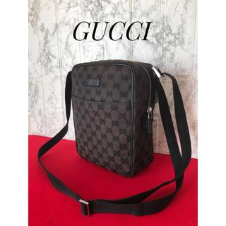 Gucci - 【GUCCI】GGキャンバス ショルダーバッグ男女併用