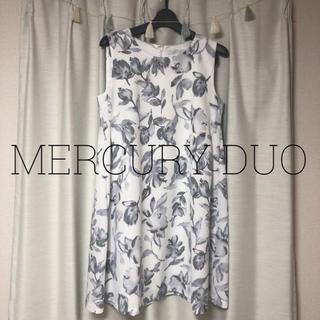 マーキュリーデュオ(MERCURYDUO)のMERCURY DUO 花柄ワンピース(ひざ丈ワンピース)