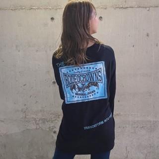ロデオクラウンズワイドボウル(RODEO CROWNS WIDE BOWL)の新品ブラック※早い者勝ちノーコメント即決しましょう❗️コメントやめましょう❌(Tシャツ(長袖/七分))
