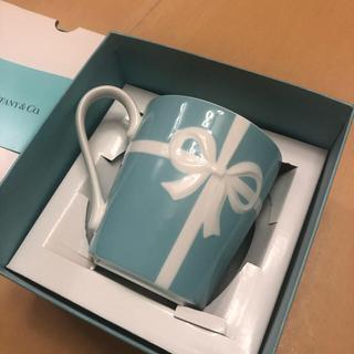 Tiffany & Co. - 【未使用・難あり】ティファニー ブルーボウ マグカップ リボン