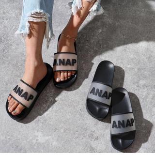 ANAP - ANAPロゴクリアラバーサンダル
