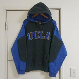UCLA ブルーインズ スウェットパーカー 古着 刺繍ロゴ