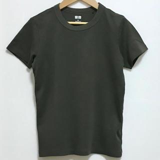 UNIQLO - ユニクロ クルーネックT オリーブ色 M Tシャツ 半袖 カットソー 秋物