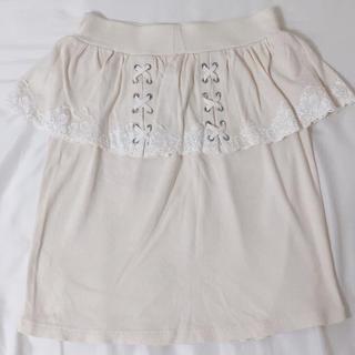 キャンディーストリッパー(Candy Stripper)のキャンスパ 編みあげスカート(ミニスカート)