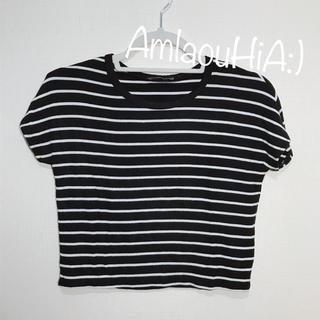 ZARA - ZARA ブラック×ホワイト ボーダー Tシャツ