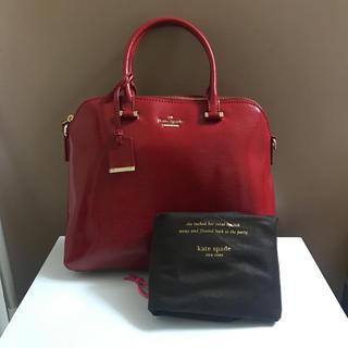 kate spade new york - 新品 Kate spade NEW YORK 赤ハンドバッグ