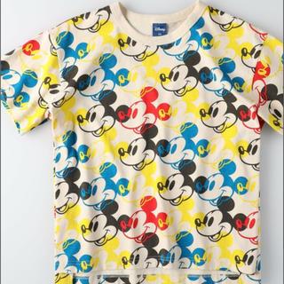ライトオン(Right-on)のミッキー ディズニー 総柄 Tシャツ(Tシャツ/カットソー)