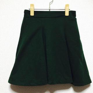 ウーム(WOmB)のウーム  ダークグリーン  フレアスカート (ひざ丈スカート)