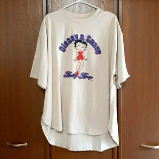 【新品】☆ベティちゃん☆ Tシャツ ベージュ Lサイズ