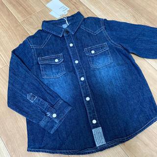 プティマイン(petit main)の新品⭐︎デニムシャツ(Tシャツ/カットソー)