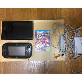 Wii U - Wii U 本体 付属品 スプラトゥーン セット 動作品 本体 ケーブル ソフト